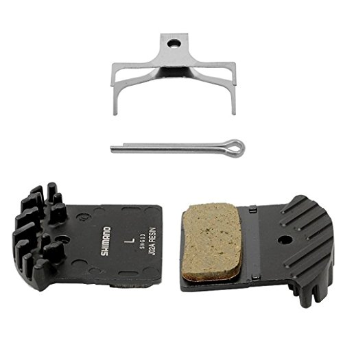 Shimano オリジナル J02A レジン ディスク Brake Pads with Cooling Fin Upgrade from F01A for Mountain バイク (海外取寄せ品)