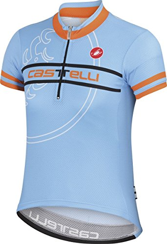Castelli 2015 Segno キッド Children's/Youth ショート スリーブ Cycling ジャージー - A15076 (gulf レース - Youth S) (海外取寄せ品)