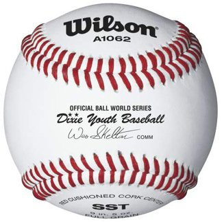 Wilson A1062 Dixie Youth Tournament Series ベースボール (12-Pack), ホワイト (海外取寄せ品)