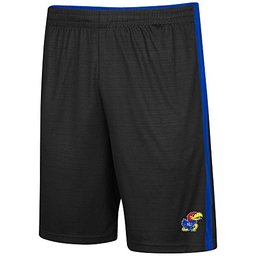 Colosseum メンズ Kansas Jayhawks バスケットボール ショート Personalize with Your Name - M (海外取寄せ品)