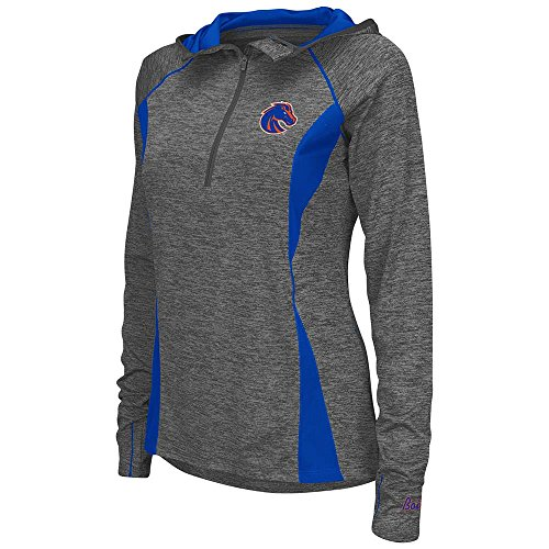 Colosseum レディース Boise State Broncos Quarter ジップ ウインド シャツ Personalize with Your Name - S (海外取寄せ品)