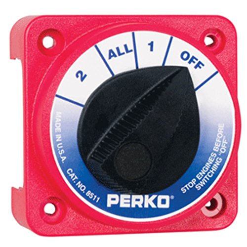 Perko 8511DP マリーン Compact Medium Duty バッテリー Selector Switch マリーン RV Boating Accessories (海外取寄せ品)