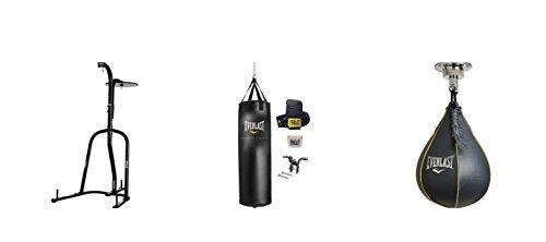 Everlast デュアル-Station Heavy Bag Stand with 70-lb. Heavy Bag キット and Speedbag (海外取寄せ品)