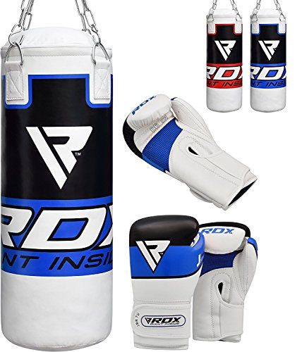 RDX キッズ Punch Bag Filled セット ジュニア Kick Boxing Heavy MMA Training Youth グローブ Punching Mitts Muay タイ Martial Arts 2FT (海外取寄せ品)