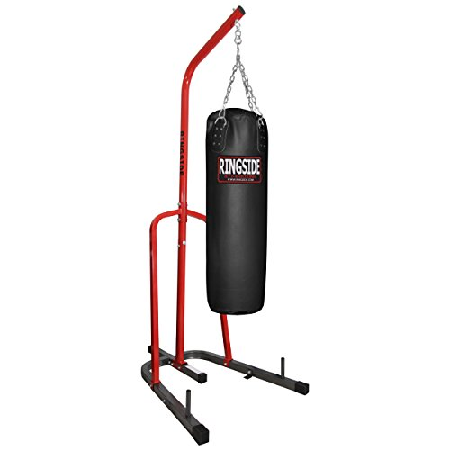 Ringside プライム Heavy Bag Stand with レザー Heavy Bag (Black) (海外取寄せ品)