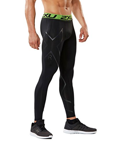 2XU メンズ Refresh Recovery Compression タイツ (Black/Nero, Small) (海外取寄せ品)