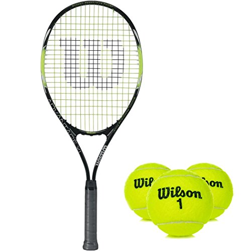 Wilson Advantage XL Pre-Strung オーバーサイズ and Extended Recreational テニス Racquet キット or セット バンドル with (1) Can of 3 テニス Balls (海外取寄せ品)