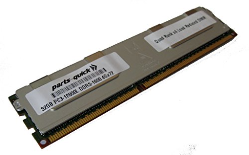 32GB メモリ memory for Supermicro SuperServer 1027R-WC1RT (Super X9DRW-CTF31) DDR3L PC3-12800L 1600MHz ECC LRDIMM (PARTS-クイック BRAND) (海外取寄せ品)