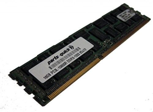 16GB メモリ memory for Supermicro SuperServer 6027PR-HTTR (Super X9DRT-PT) PC3L-10600 1333MHz LP RDIMM (PARTS-クイック BRAND) (海外取寄せ品)