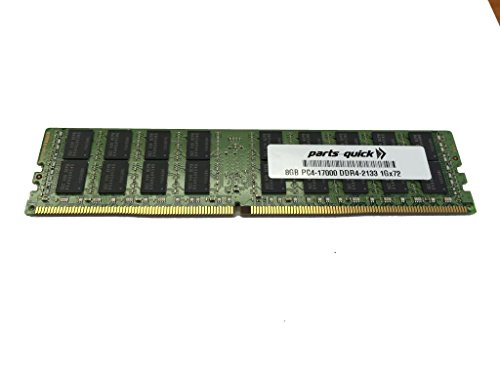 8GB メモリ memory for Supermicro SuperServer 2028U-E1CNR4T+ DDR4 PC4-17000 2133 MHz RDIMM RAM (PARTS-クイック BRAND) (海外取寄せ品)