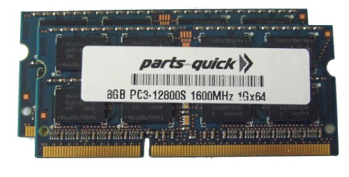 16GB キット 2 X 8GB Memory モジュール for Apple iMac 27-インチ (Late 2012) Core i5 Core i7 1600MHz DDR3 (PC3-12800) (PARTS-クイック BRAND) (海外取寄せ品)