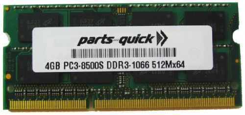 4GB メモリ memory for Toshiba Satellite L655D-S5110WH DDR3 PC3-8500 RAM Upgrade (PARTS-クイック BRAND) (海外取寄せ品)