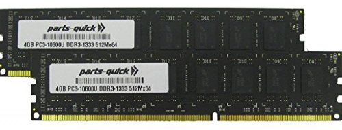 8GB (2 X 4GB) メモリ memory Upgrade for レノボ ThinkCentre A85 DDR3 PC3-10600 1333MHz デスクトップ DIMM RAM (PARTS-クイック BRAND) (海外取寄せ品)