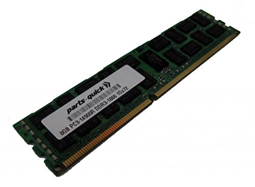 8GB メモリ memory for Gigabyte GS-R22PDP Server DDR3 PC3-14900 1866 MHz ECC レジスター DIMM RAM (PARTS-クイック BRAND) (海外取寄せ品)