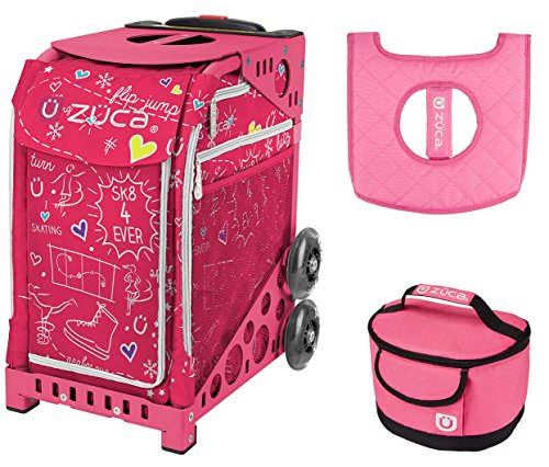 Zuca スポーツ Bag - ピンク SK8 with ギフト Lunchbox and シート カバー (Pink Frame) (海外取寄せ品)