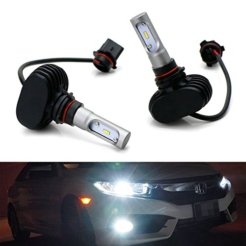 iJDMTOY P13W 12277 LED Headlight Bulbs, 50W 6000K Extremely ブライト LED Headlight, Driving ランプ, Fog Light Upgrade Bulbs, Powered By CSP Chipsets (海外取寄せ品)