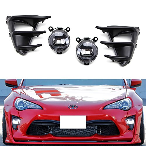 iJDMTOY OEM スタイル Complete 20W ハイ Power CREE LED DRL Driving Fog Light キット w/ ベゼル カバー, Wiring Harness Switch For 2017-up Toyota 86 (海外取寄せ品)