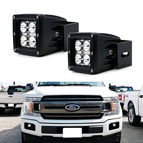 iJDMTOY Complete 40W LED Pod ライト w/ Foglamp Location Mounting Brackets & Wiring Adapters For 2015-up Ford F150 & 2017-up Ford F250 F350 Super Duty (海外取寄せ品)