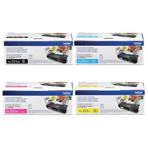 Reseller TN331 ブラック, シアン, Magenta and イエロー Complete Toner Cartridge セット (海外取寄せ品)