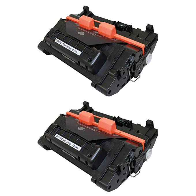 Nineleaf 2 パック Compatible HP CE390A 90A Toner Cartridge ハイ-Yield 10,000 ページ for HP LaserJet Ent 600 M601n M601dn M602n LaserJet M4555 M601 M602 M603 Series Printer (海外取寄せ品)