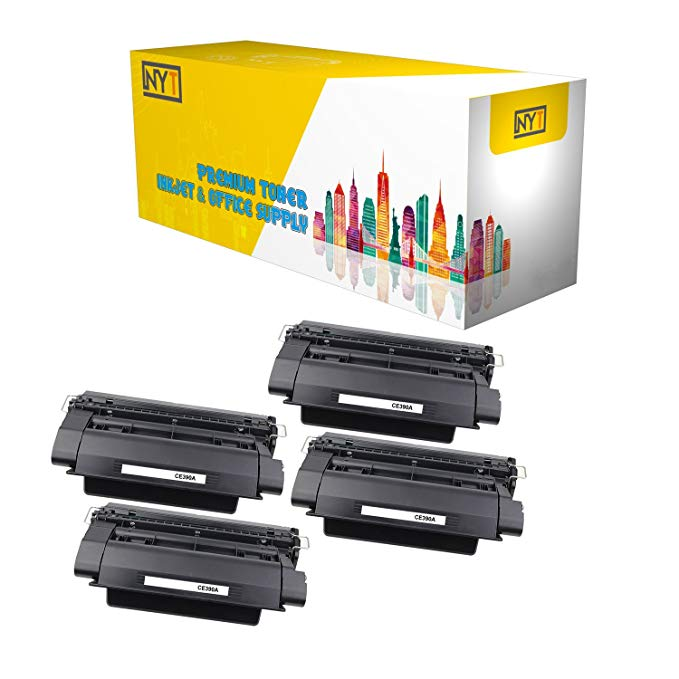 New ヨーク Toner New Compatible 4 パック CE390A ハイ Yield Toner for HP - LaserJet Enterprise 600: LaserJet Enterprise 600 M601dn | LaserJet Enterprise 600 M601n. --ブラック (海外取寄せ品)