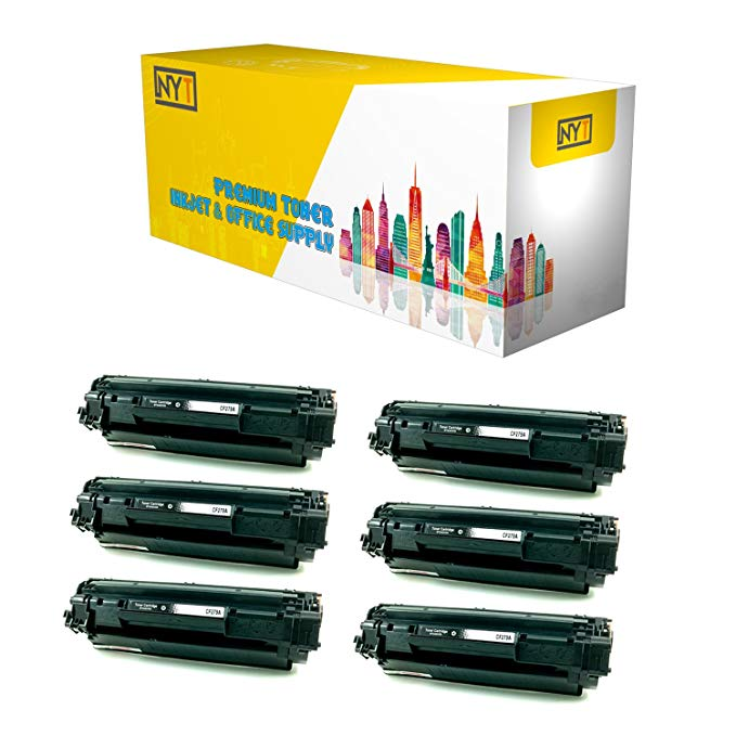 New ヨーク Toner New Compatible 6 パック CF279A ハイ Yield Toner for HP - LaserJet プロ M12w and M26nw. --ブラック (海外取寄せ品)