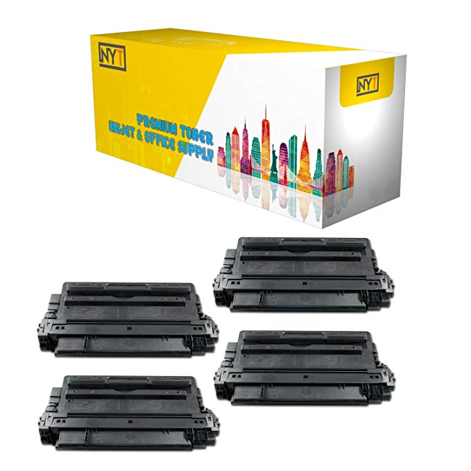 New ヨーク Toner New Compatible 4 パック CF214A ハイ Yield Toner for HP - LaserJet Enterprise 700: M712dn, M712xh, M725dn, MFP M725z, MFP M725f, M712n, M725z+ - ブラック (海外取寄せ品)