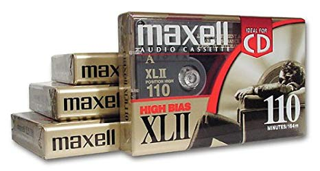 MAXELL XLII 110-ミニッツ Audio Cassette テープ (4 Pack) (Discontinued by Manufacturer) (海外取寄せ品)