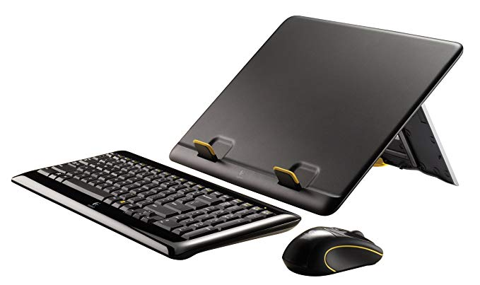 Logitech ノート キット MK605 Keyboard, マウス, and Laptop Stand (海外取寄せ品)