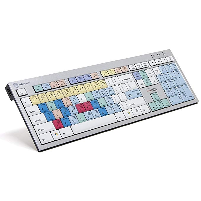 Logickeyboard Steinberg Cubase Nuendo スリム ライン PC Keyboard | Shortcut Keyboard for Cubase Nuendo 4 5 6 7 (海外取寄せ品)