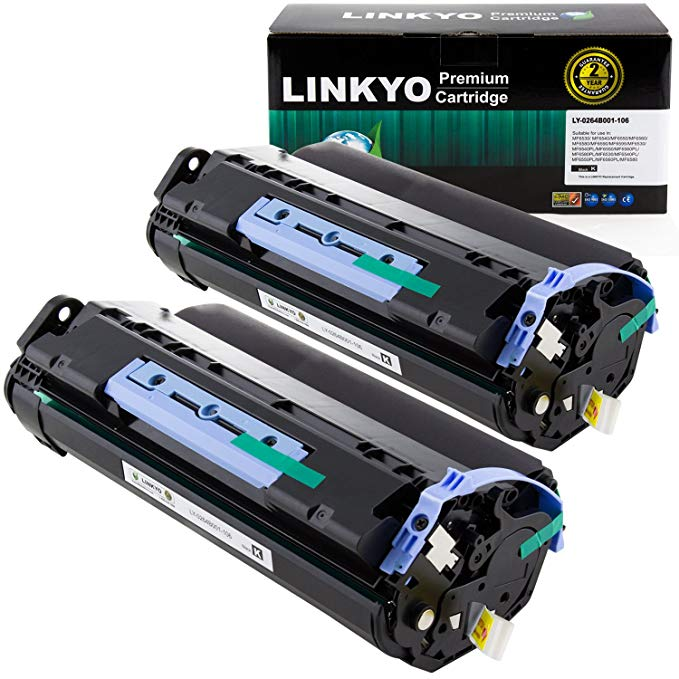 LINKYO Compatible Toner Cartridges リプレイスメント for キャノン Canon 106 0264B001AA (Black, 2-Pack) (海外取寄せ品)