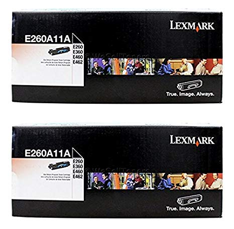 Lexmark E260A11A Return Program Toner Cartridge 2-パック for E260, E360, E462 (海外取寄せ品)