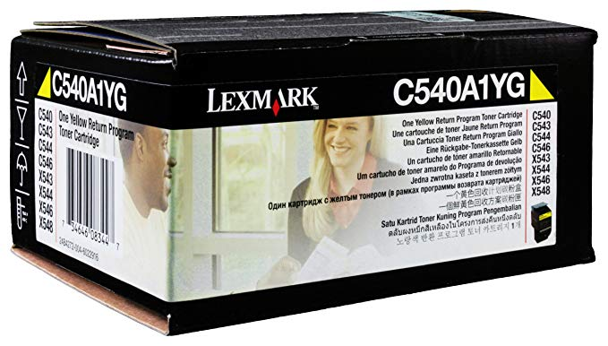 Lexmark C540A1YG C54X/X543/X544 Return Program イエロー Toner Cartridge (海外取寄せ品)