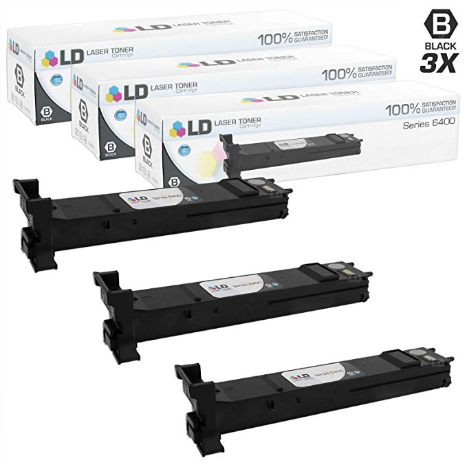 LD Compatible Xerox 106R01316 / 6400 セット of 3 ハイ Yield ブラック Toner Cartridges for WorkCentre 6400, 6400S, 6400SFS, 6400X, 6400XF (海外取寄せ品)