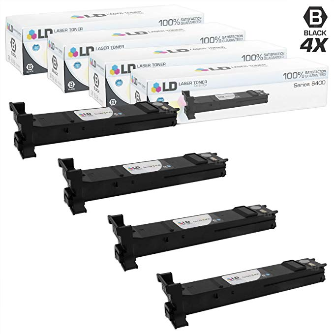 LD Compatible Xerox 106R01316 / 6400 セット of 4 ハイ Yield ブラック Toner Cartridges for WorkCentre 6400, 6400S, 6400SFS, 6400X, 6400XF (海外取寄せ品)