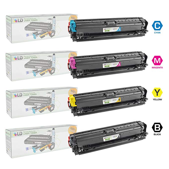 LD Remanufactured リプレイスメント for HP 307A セット of 4 Toner Cartridges: CE740A ブラック, CE741A シアン, CE743A Magenta, CE742A イエロー for LaserJet, カラー LaserJet & LaserJet プロ CP5225, CP5225dn, CP5225n (海外取寄せ品)