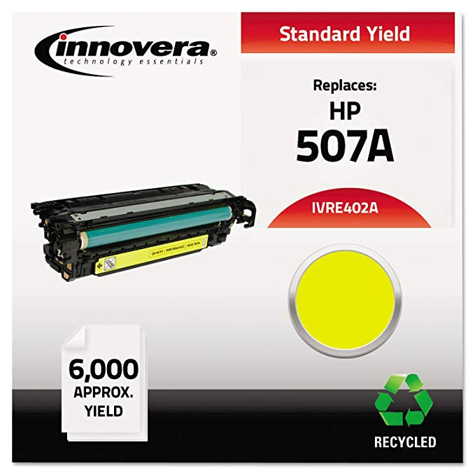 Innovera Compatible Remanufactured CE402A M551 Toner, イエロー, (IVRE402A) (海外取寄せ品)
