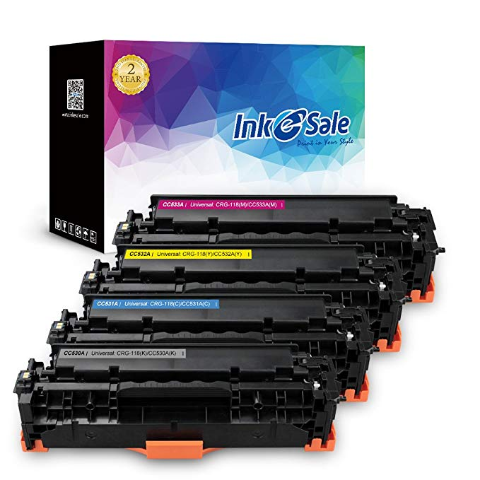 INK E-セール リプレイスメント for HP 304A HP CC530A CC531A CC532A CC533A Canon 118 Toner Cartridge For Use With HP カラー LaserJet CP2025dn CP2025n CM2320fxi, Canon ImageCLASS MF726Cdw LBP7660Cdn, KCMY-4 パック (海外取寄せ品)