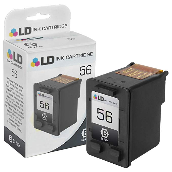 Compatible Ink Cartridge リプレイスメント for HP 56 HP 57 C6656AN C6657AN (2 ブラック 2 Color) 4 パック 「汎用品」(海外取寄せ品)