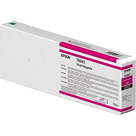 Epson UltraChrome HD Vivid Magenta 700mL Ink Cartridge for SureColor SC P6000/8000/7000/9000 Series Printers 「汎用品」(海外取寄せ品)