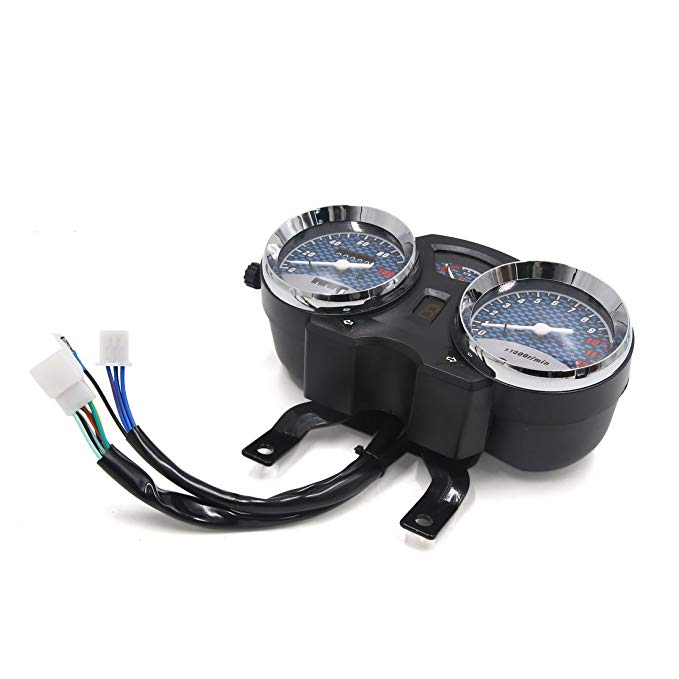 uxcell Motorcycles Scooters 0-120Km/h Odometer Tachometer Speedometer ゲージ メーター DC 12V 3W (海外取寄せ品)