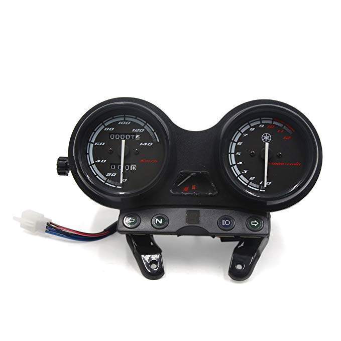 uxcell Motorcycle Scooter 0-140Km/h Odometer Tachometer Speedometer ゲージ メーター DC 12V 3W for YBR (海外取寄せ品)
