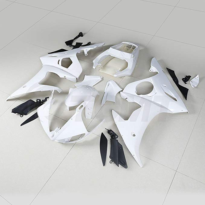 TCT Unpainted Injection Fairing Bodywork For ヤマハ YZF-R6 2005 YZF R6 YZFR6 05 (海外取寄せ品)