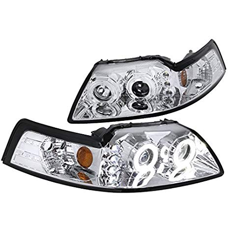 Spec-D Tuning 2LHP-MST99-V2-RS クローム Projector Headlight (Halo Led) (海外取寄せ品)