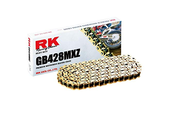RK レーシング チェーン GB428MXZ-118 ゴールド 118-リンクス Heavy Duty チェーン with Connecting リンク (海外取寄せ品)