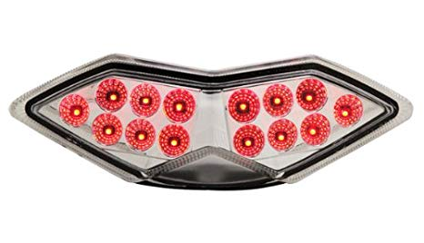 2010-2013 Kawasaki Z1000 Versys 11-18 忍者 1000 Integrated Sequential LED Tail ライト Clear レンズ (海外取寄せ品)