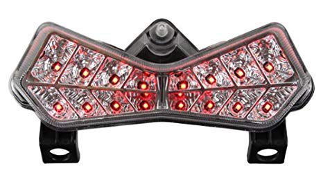 2003-2006 Kawasaki Z1000 / 03-04 ZX-6R ZX-6RR Integrated Sequential LED Tail ライト Clear レンズ (海外取寄せ品)