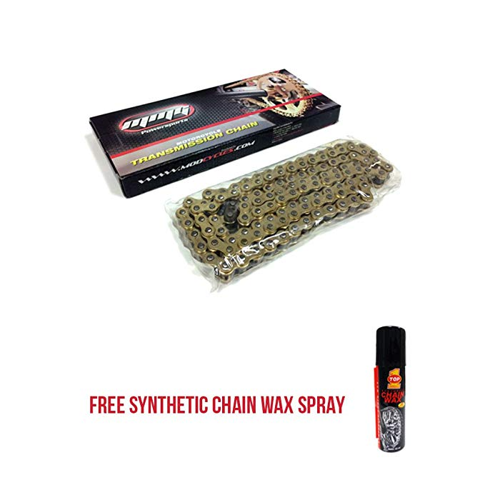 520H ? 120 リンク O'Rings Roller Transmission チェーン Motorcycle Scooter ATV 250cc - ゴールド + FREE TOP1 シンセティック チェーン Wax (海外取寄せ品)