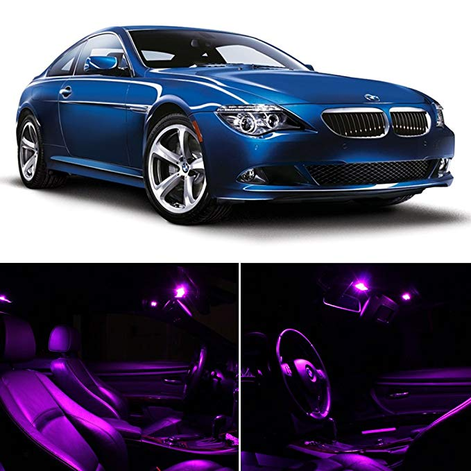 BMW 6 Series E63 E64 2003-2010 Fuschia パープル プレミアム LED Interior ライト Package キット (11 Pieces) (海外取寄せ品)