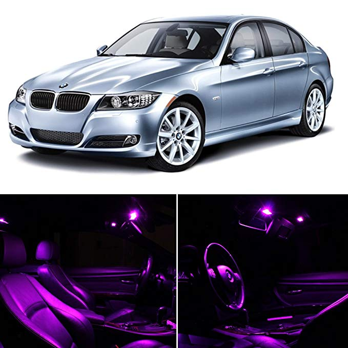 LEDpartsNOW BMW 3 Series E90 E92 M3 2006-2012 Fuschia パープル プレミアム LED Interior ライト Package キット (14 Pieces) (海外取寄せ品)